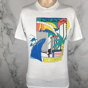 1980s Miami SS Norway Made in USA T-shirt